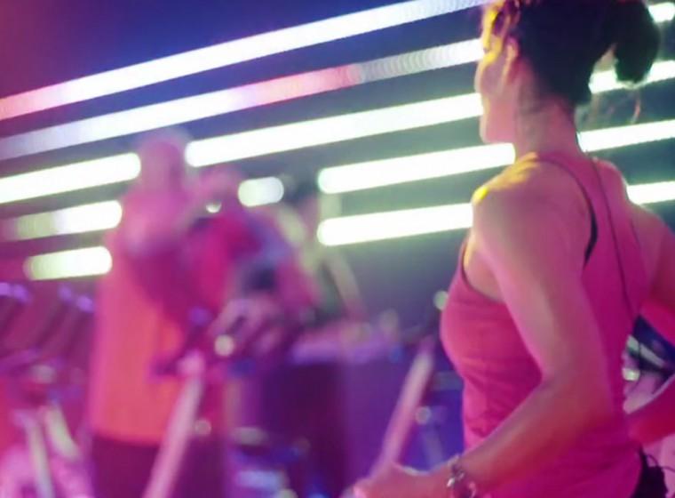 Immersive LED gym