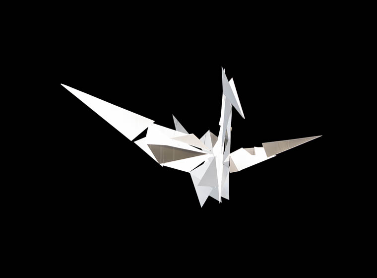 Origami bird 3D illusion